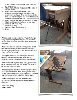 Student Desk (Wooden) - STEM Challenge