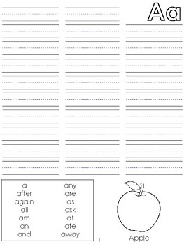 Student Desk Word Wall Book