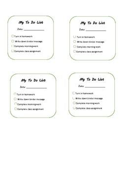 Student Desktop Checklist