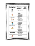 Student Desktop Checklist to Use with Reading Comprehensio