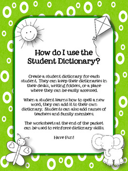 Student Dictionaries