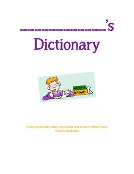 Student Vocabulary Dictionary