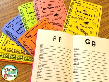 Student Dictionary For Spelling With Sight Words
