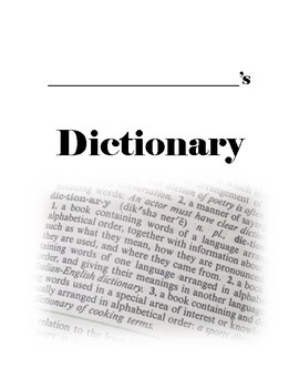 Student Dictionary - Frayer Model