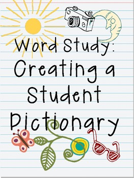 Student Dictionary: Create Your Own!