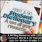 Personal Dictionary | 2nd Grade 3rd Grade | Student Dictionary