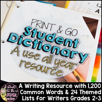 Student Dictionary Editing Tool-Commonly Spelled Words and