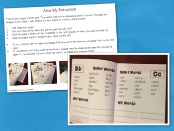 Student Dictionary for Writing: Sight Words, Theme Words
