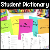 Student Dictionary Printable and Digital All Dolch Sight W