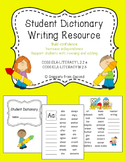 Student Dictionary Writing Resource Book