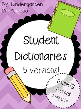 Student Dictionary and Dictionary Skills Activities