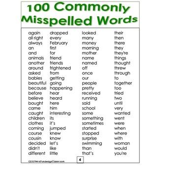 Student Dictionary (editable)