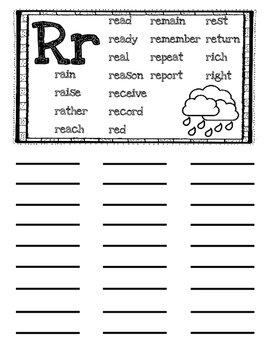 Student Dictionary with Fry Sight Words