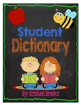 Student Dictionary (with words and spaces to write in!)