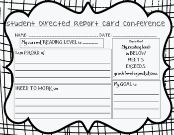 Student Directed Report Card Conference Script