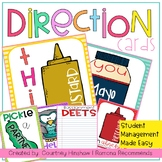 Student Direction Cards
