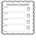Student Directions Checklist