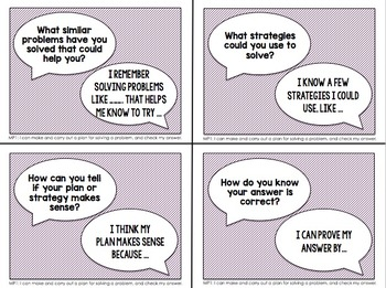 Partner Discussion Cards/Conversation Starters for Math Practices