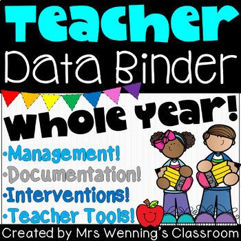 Data Binder Supplements, Documentation, Interventions & Behavior Management Pack