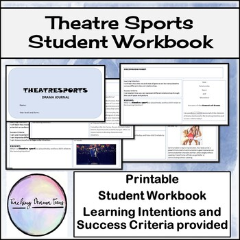Student Drama Journal - paperless or printout booklet.
