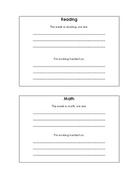 Student Driven Communication Template