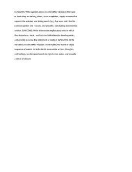 Student Driven Writing Rubric 2nd Grade Georgia Standards