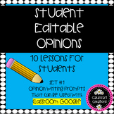 Student Editable Opinion Lessons