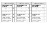 Student Editing Checklist