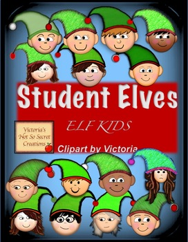 Student Elves Elf Clipart Kid Elves Christmas PNG format
