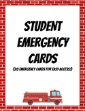 Student Emergency Cards