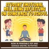 Back to School Reflections - Student Emotional Wellbeing A