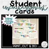 Student Encouragement Note Cards