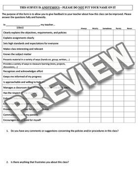 Student End of Course Survey