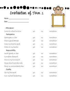 Student End of Term Self-evaluation