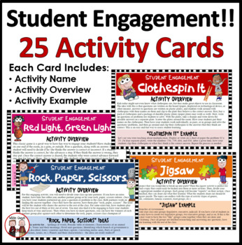Student Engagement Task Cards