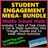 Student Engagement Activities Mega-Bundle for Middle School Math