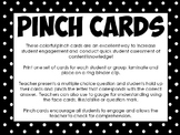 Student Engagement Pinch Cards