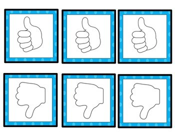 Student Engagement:  Thumbs Up Thumbs Down Cards