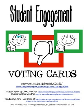Student Engagement Voting Cards