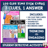 Student Engagement Activity Quiz Time Task Cards 100 Total