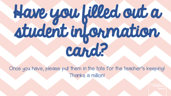 Essential Contact Information Cards