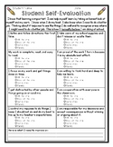 Student Evaluation Checklist