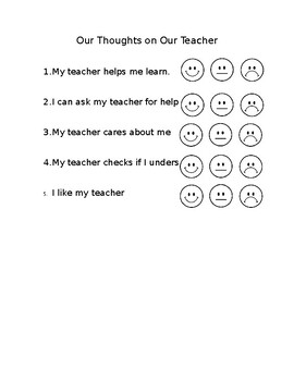 Student Evaluation of Teacher