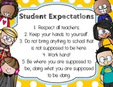 Student Expectations {Kids Themed}