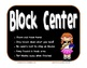 Student Expectations for Learning Centers ~ Signs