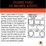 Student Faves/Ice breaker/Student Info