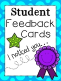 Student Feedback Cards