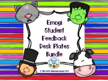 Student Feedback Emogi Desk Plates Bundle
