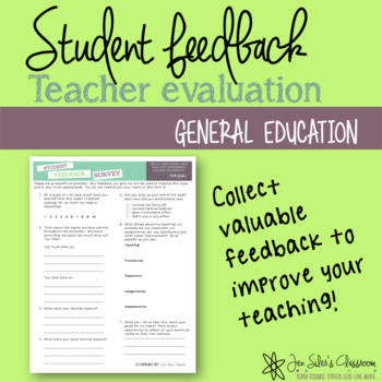 Student Feedback Form By Jen Siler'S Classroom | Tpt