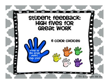 Student Feedback: High Fives